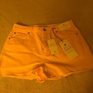 NWT Jack Wills pink denim shorts